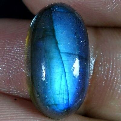 19.20Cts. 100% Natural Flashing Blue Labradorite African Gemstone Oval Cabochon