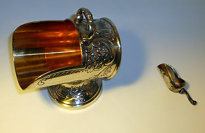 Vintage Antique Rogers Silver Plate Sugar Bowl Scuttle Scoop Ornate Candy Dish