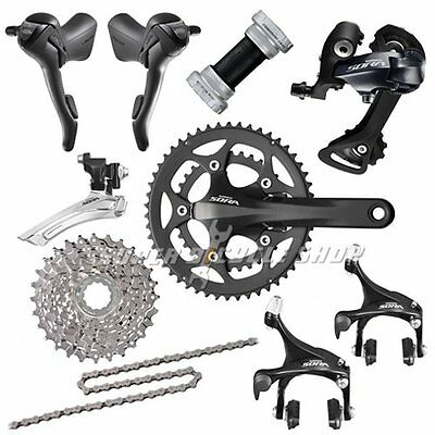Shimano SORA 3500 3550 Road 2x9 Speed 11-34T Groupset Kit 8 piece , Black