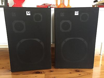 Pair of Linear Acoustic Speakers 3 Way Vintage - Great Condition