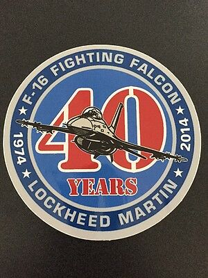 Lockheed Martin F16 40 Years Sticker