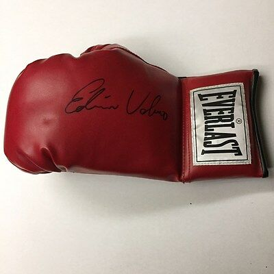 Edwin Valero Autographed Everlast Boxing Glove with Fight Plaza COA VERY RARE