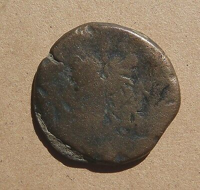 Large ancient Roman Republican As coin with Janus and Roman galley