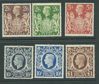 Great Britain 1939/48 High Value set mm