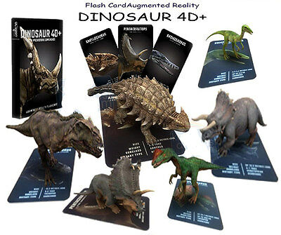 Dinosaur 4D Card Augmented Reality Flashcard For Kids