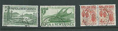 Papua New Guinea Relief Postmarks x 3 on PNG adhesives