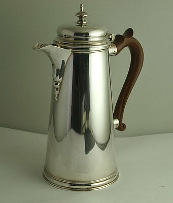 Superb George II Style Solid Silver Coffee Pot - 562g - BIrm. 1922