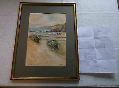 FRAMED WATERCOLOUR PAINTING by W.PARKYN A.R.C.A. A.R.W.A. KERNACK SANDS CORNWALL