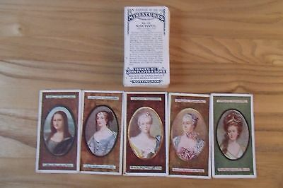 a full set of antique players miniatures cigarette cards