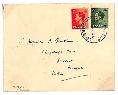 B103 1936 GB KEVIII Superb *Gibraltar Paquebot* CDS Unusual {samwells-covers}