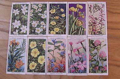 a full set of wills wild flowers 2nd series cigarette cards