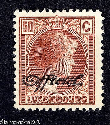 1926 Luxembourg 50c Brown OPTD OFFICIEL SG 0287 MOUNTED MINT R24832