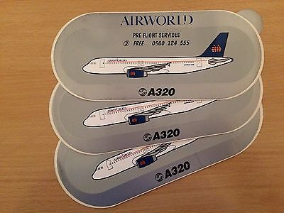 Airworld Aviation Airbus A320 Stickers x 3