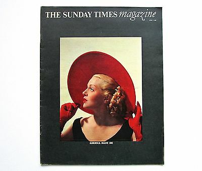 The Sunday Times Magazine  April 7th 1968