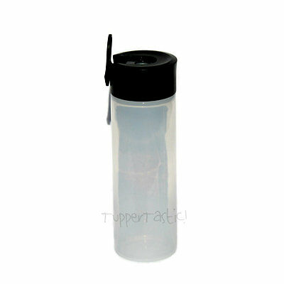 Tupperware NEW Soy Scape Condiserve Squeeze It Sauce Bottle 350ml Black / Clear