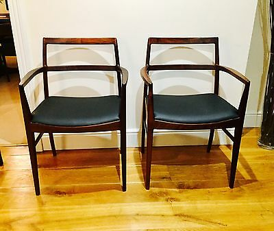 6 Exceptional Rosewood Mid Century Modern Dining Chairs - Arne Vodder Sibast