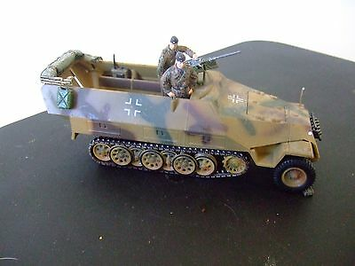 German Half Track Fighting Vehicle With Soldiers