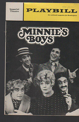Minnie's Boys Playbill Shelly Winters May 1970 Imperial Theatre