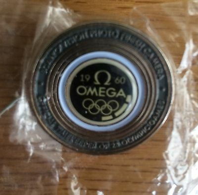 Omega Rome 1960 Olympic Pin Badge *Collectors & Rare Item*
