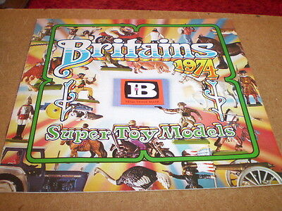 Britains Model Toy Catalogue 1974 Uk Edition Mint Condition For Age