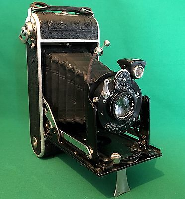 Weltar Perle 6x9 Folding Camera, 1930 With Original Release Cable *RARE*
