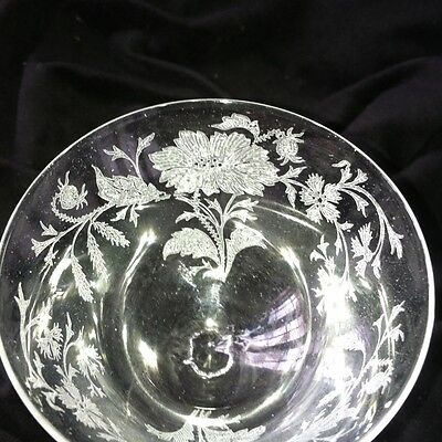 11 Etched Flower CocktAil Wine Sherry Tiffin Pattern 2000-3