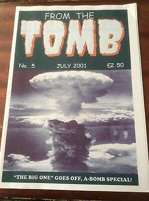 From The Tomb #5 rare UK fanzine on horror comics. Atom bomb issue. Vg condition