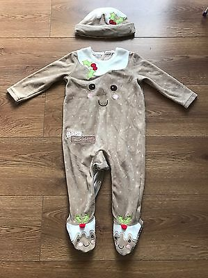Xmas/Christmas Pudding Suit Baby 9-12 Months