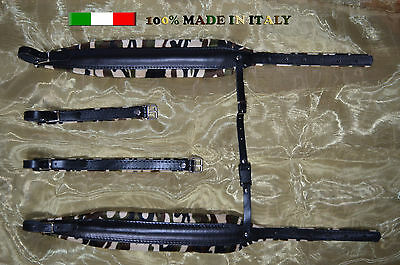Accordion straps shoulder professional genuine leather and valvet 8cm DELUXE!!!