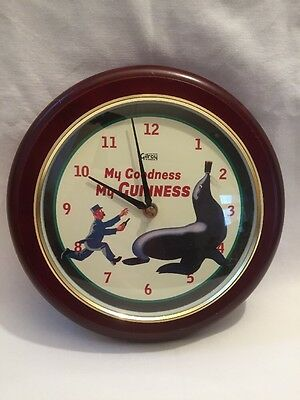 Guinness Wall Clock - My Goodness Sea Lion Gilroy Classics Special Edition Clock