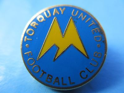 Old..torquay United Football Club..blue & Yellow Gilt Backed Pin Badge