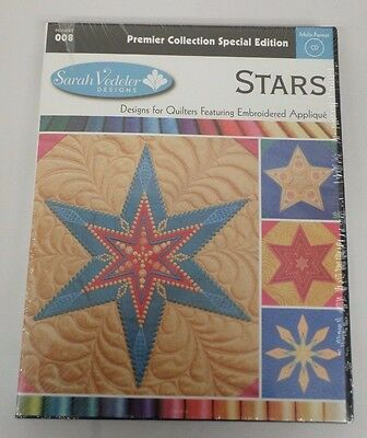 AccuQuilt GO! Stars Embroidery Designs CD for GO! Sarah Vedeler Number 008