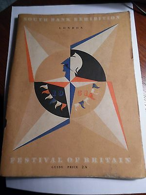 1951 Festival Of Britain South Bank Exhibition Guide Book