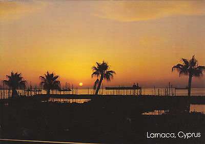 Cyprus Postcard Larnaca The Marina At Sunrise, A Very Nice View With Sunset