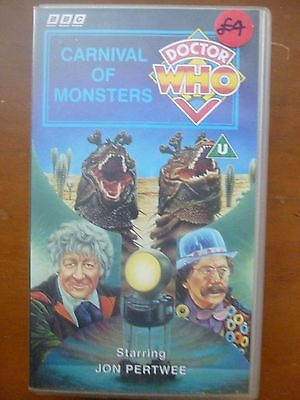 Doctor Who Carnival Of Monsters VHS BBC Video