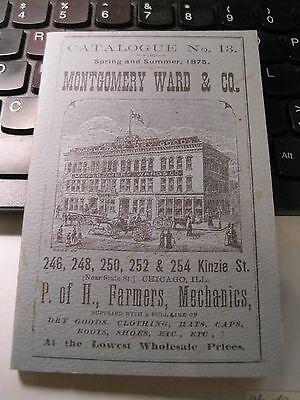 Montgomery Ward & Co.Catalogue No.13 Spring and Summer 1875