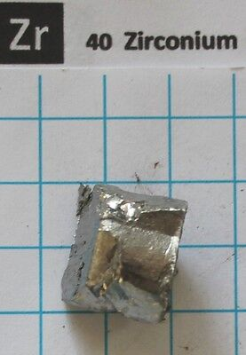 20 gram 0.7 Oz Zirconium metal nugget 99.81% pure element 40 sample