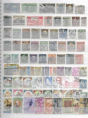 Italia Italy Stamps Some Old Taken From Albums + Stock Books 11091016