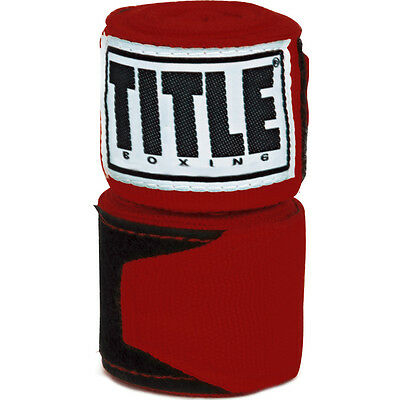 "Title Boxing 180"" Semi Elastic Mexican Handwraps - Red"