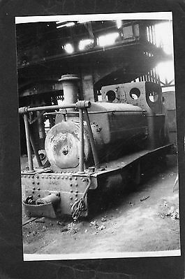 INDUSTRIAL loco No.35 at DOWLAIS in 1933- Proper R/P-P/C glossy photo