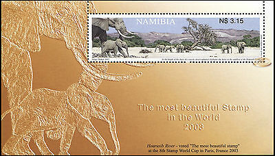 Namibia. 2003. The Most Beautiful Stamp in the World 2003 (MNH OG) S/S