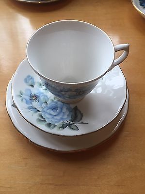 Queen Anne Bone China Cup Saucer And Plate Made In England