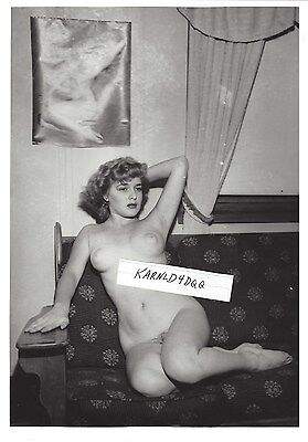 Vintage Nude Sexy Busty Woman Lady Photo Photograph Original 8 X 10 Black White