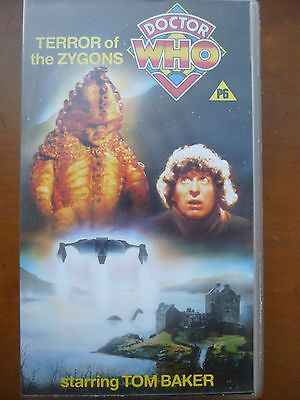 Doctor Who The Terror Of The Zygons, VHS, BBC Video, Tom Baker
