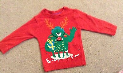 Little Boys M&S Christmas Jumper, 12-18 Months