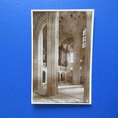 Old Postcard of The Nave & Crossing South-East View, St. George's Chapel Windsor