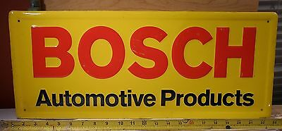 Orig Bosch Automotive Products Embossed  Sign thin metal Scioto Ohio auto truck