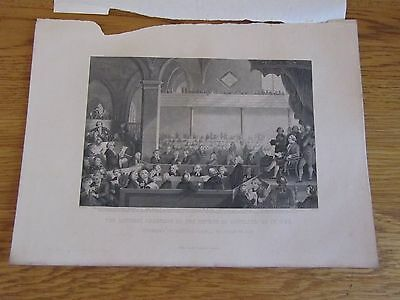 Old Engraving General Assembly of the Church of Scotland As In 1783, A Fullarton