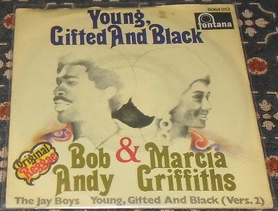 """Bob Andy & Marcia Griffiths : Young gifted and black (Reggae),7"""",im Bildcover"""