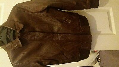 Red Herring 100% Leather Jacket age 9-10yrs